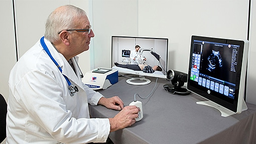 remote ultrasound robot